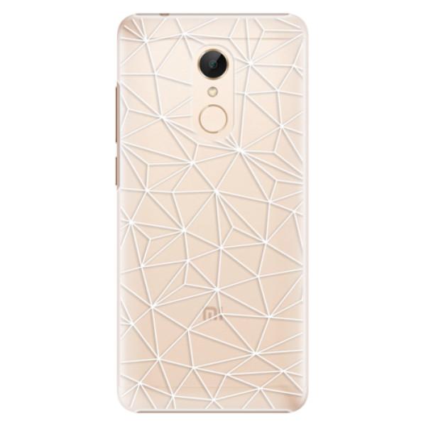 Plastové pouzdro iSaprio - Abstract Triangles 03 - white - Xiaomi Redmi 5