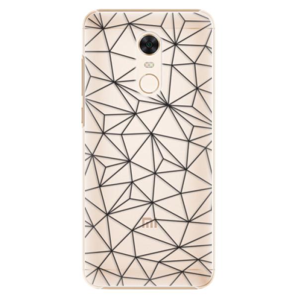 Plastové pouzdro iSaprio - Abstract Triangles 03 - black - Xiaomi Redmi 5 Plus
