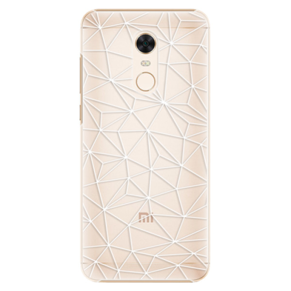 Plastové pouzdro iSaprio - Abstract Triangles 03 - white - Xiaomi Redmi 5 Plus