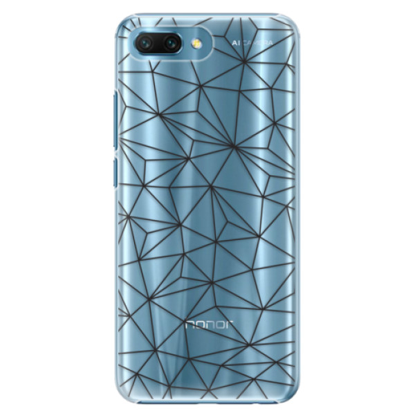 Plastové pouzdro iSaprio - Abstract Triangles 03 - black - Huawei Honor 10