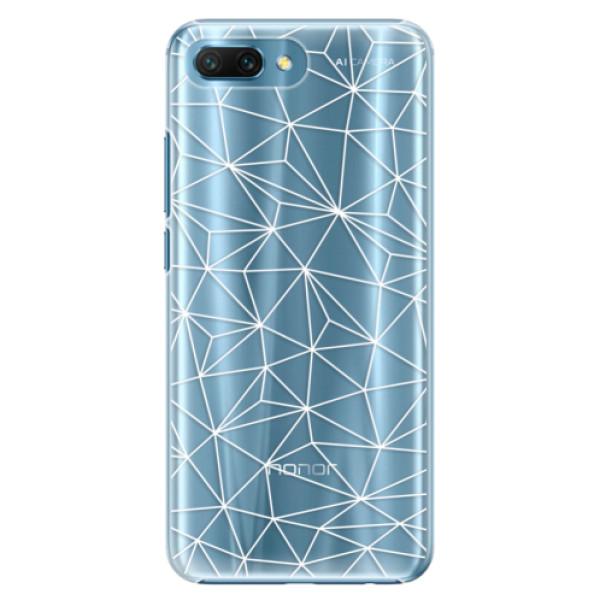 Plastové pouzdro iSaprio - Abstract Triangles 03 - white - Huawei Honor 10