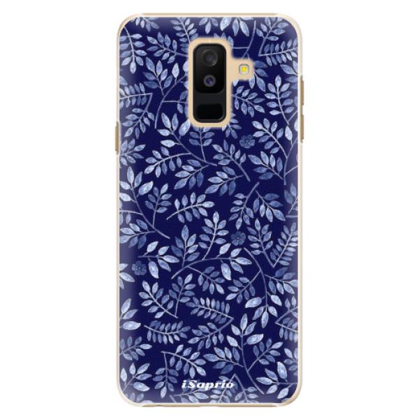 Plastové pouzdro iSaprio - Blue Leaves 05 - Samsung Galaxy A6+