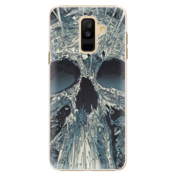 Plastové pouzdro iSaprio - Abstract Skull - Samsung Galaxy A6+