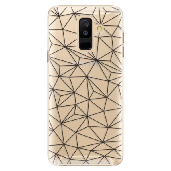 Plastové pouzdro iSaprio - Abstract Triangles 03 - black - Samsung Galaxy A6+