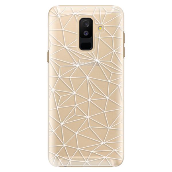 Plastové pouzdro iSaprio - Abstract Triangles 03 - white - Samsung Galaxy A6+