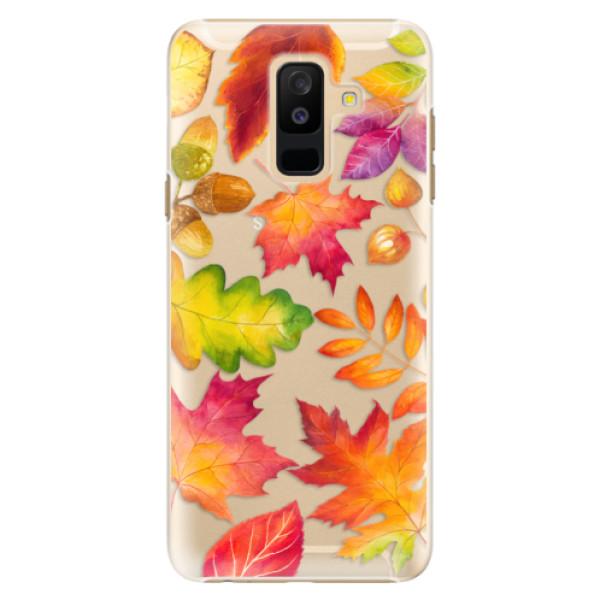 Plastové pouzdro iSaprio - Autumn Leaves 01 - Samsung Galaxy A6+