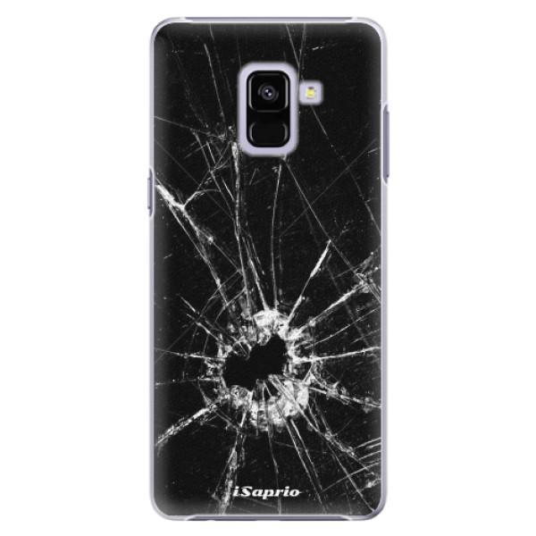 Plastové pouzdro iSaprio - Broken Glass 10 - Samsung Galaxy A8+