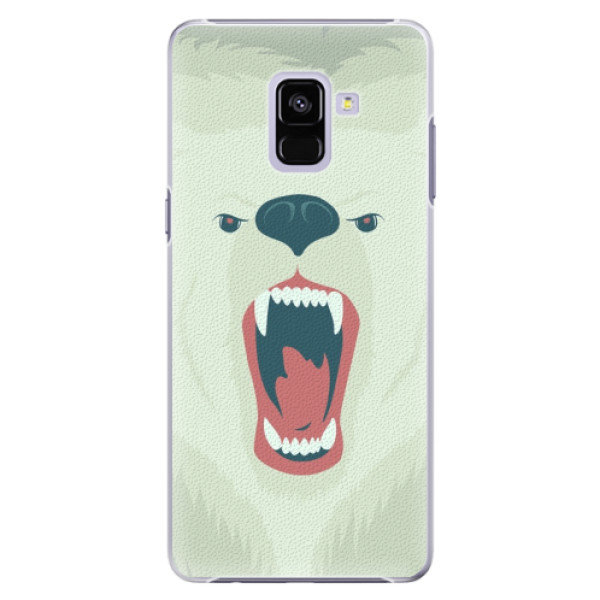 Plastové pouzdro iSaprio - Angry Bear - Samsung Galaxy A8+