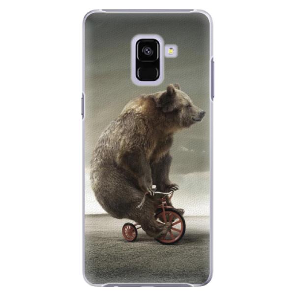 Plastové pouzdro iSaprio - Bear 01 - Samsung Galaxy A8+