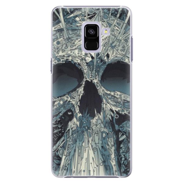 Plastové pouzdro iSaprio - Abstract Skull - Samsung Galaxy A8+
