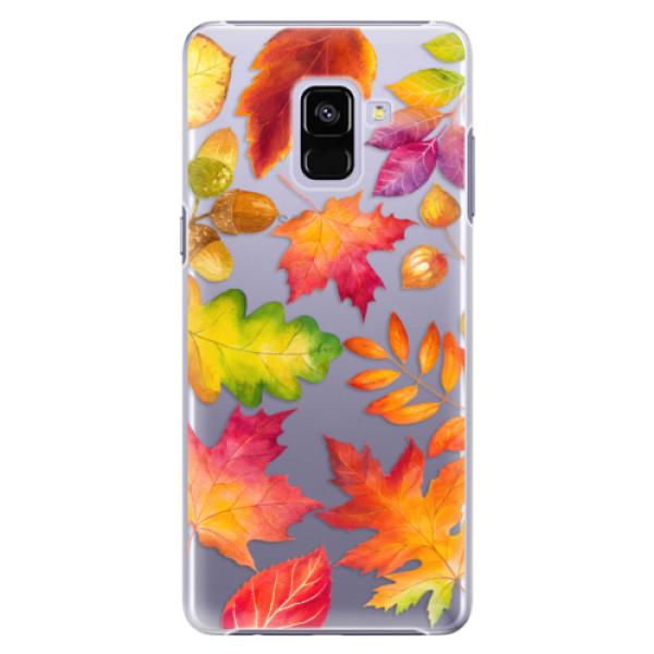Plastové pouzdro iSaprio - Autumn Leaves 01 - Samsung Galaxy A8+