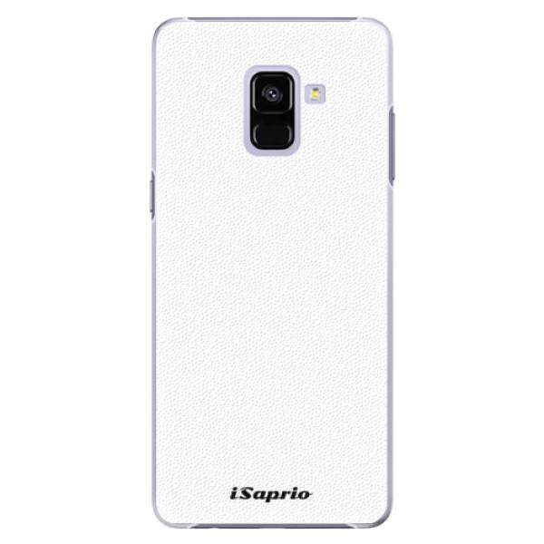 Plastové pouzdro iSaprio - 4Pure - bílý - Samsung Galaxy A8+