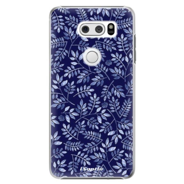 Plastové pouzdro iSaprio - Blue Leaves 05 - LG V30