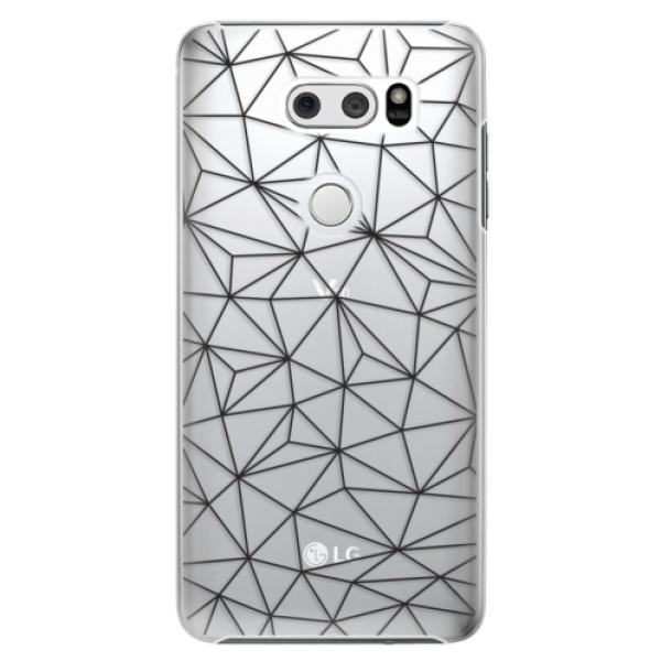 Plastové pouzdro iSaprio - Abstract Triangles 03 - black - LG V30