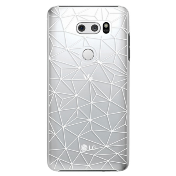 Plastové pouzdro iSaprio - Abstract Triangles 03 - white - LG V30