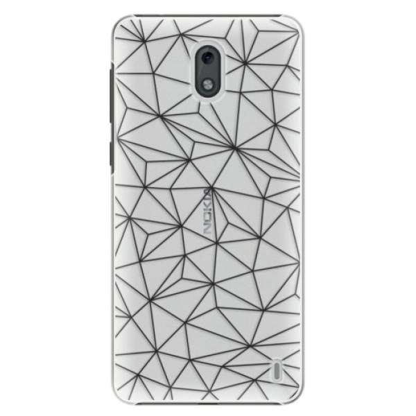 Plastové pouzdro iSaprio - Abstract Triangles 03 - black - Nokia 2