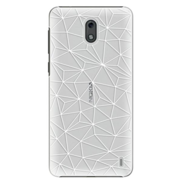 Plastové pouzdro iSaprio - Abstract Triangles 03 - white - Nokia 2