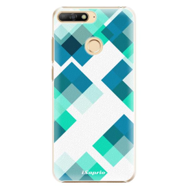 Plastové pouzdro iSaprio - Abstract Squares 11 - Huawei Y6 Prime 2018