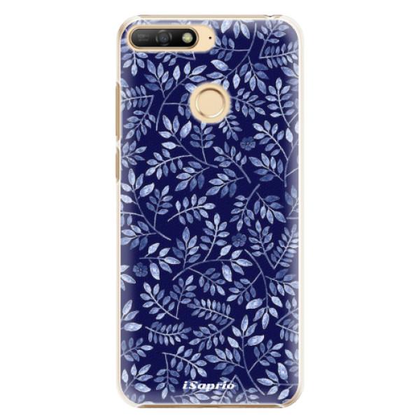 Plastové pouzdro iSaprio - Blue Leaves 05 - Huawei Y6 Prime 2018