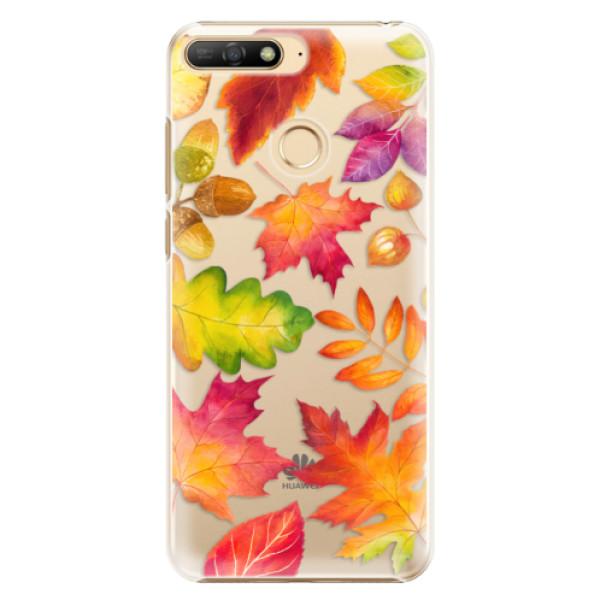 Plastové pouzdro iSaprio - Autumn Leaves 01 - Huawei Y6 Prime 2018