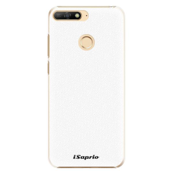 Plastové pouzdro iSaprio - 4Pure - bílý - Huawei Y6 Prime 2018