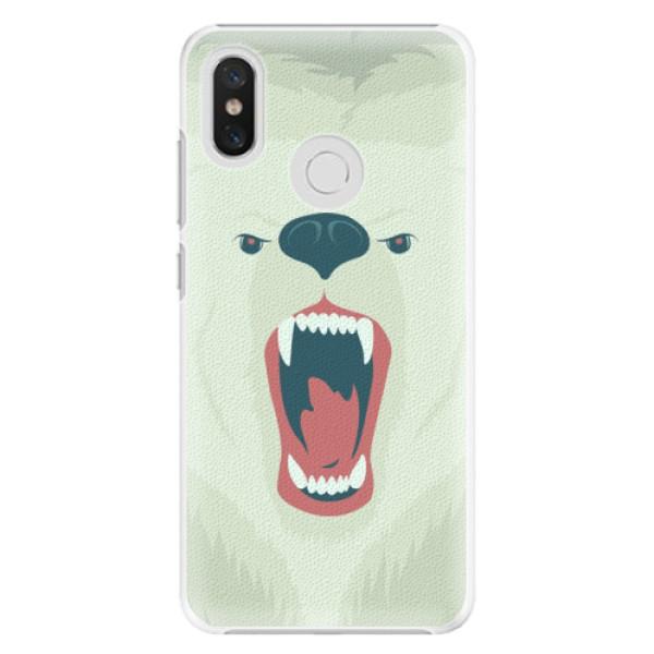 Plastové pouzdro iSaprio - Angry Bear - Xiaomi Mi 8
