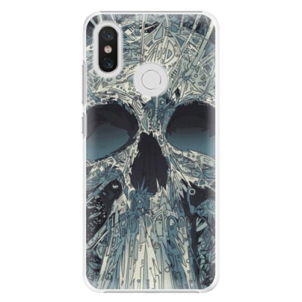 Plastové pouzdro iSaprio - Abstract Skull - Xiaomi Mi 8
