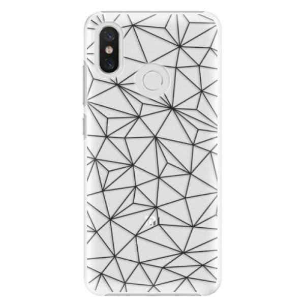 Plastové pouzdro iSaprio - Abstract Triangles 03 - black - Xiaomi Mi 8
