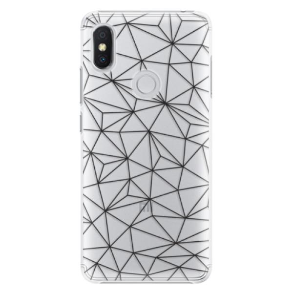 Plastové pouzdro iSaprio - Abstract Triangles 03 - black - Xiaomi Redmi S2
