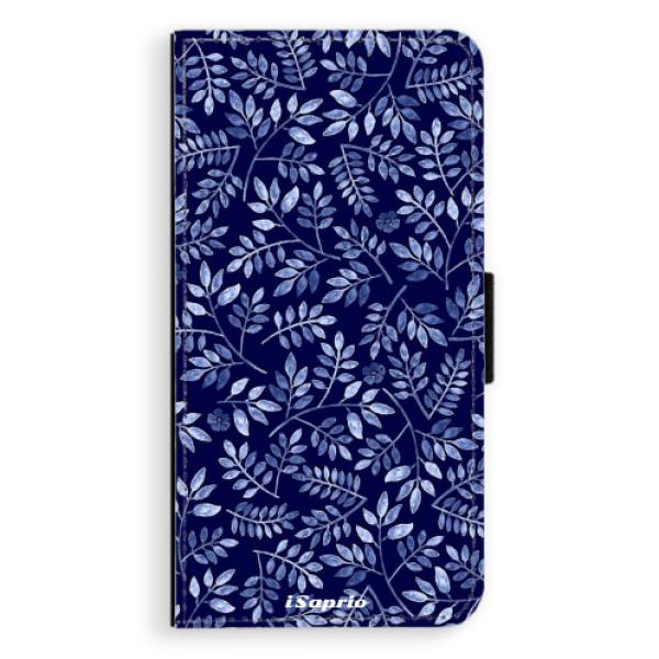 Flipové pouzdro iSaprio - Blue Leaves 05 - iPhone 8 Plus