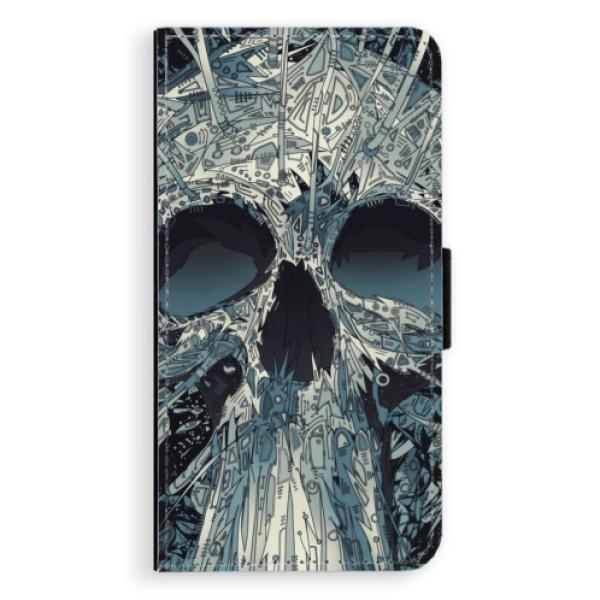 Flipové pouzdro iSaprio - Abstract Skull - iPhone X