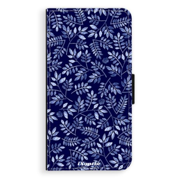 Flipové pouzdro iSaprio - Blue Leaves 05 - Samsung Galaxy S6