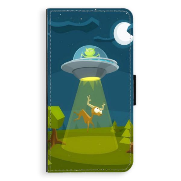 Flipové pouzdro iSaprio - Alien 01 - Samsung Galaxy S6