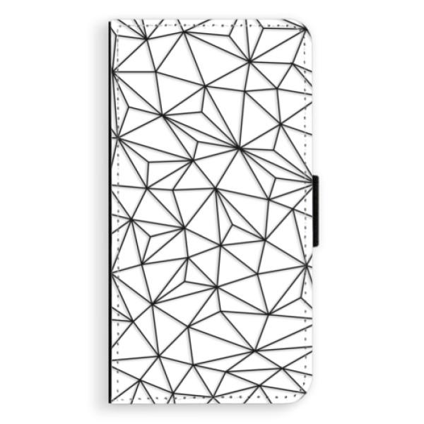 Flipové pouzdro iSaprio - Abstract Triangles 03 - black - Samsung Galaxy S6