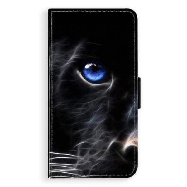 Flipové pouzdro iSaprio - Black Puma - Samsung Galaxy S6