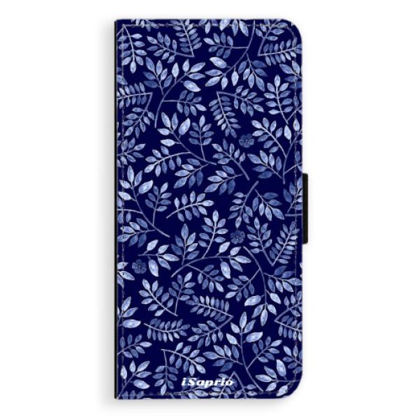 Flipové pouzdro iSaprio - Blue Leaves 05 - Samsung Galaxy S8 Plus