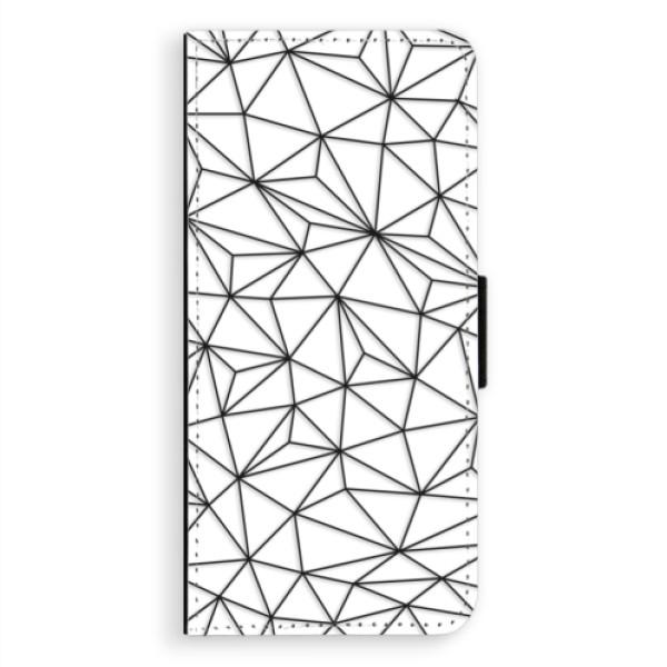 Flipové pouzdro iSaprio - Abstract Triangles 03 - black - Samsung Galaxy Note 8