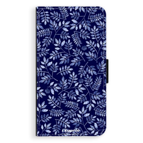 Flipové pouzdro iSaprio - Blue Leaves 05 - Samsung Galaxy A3