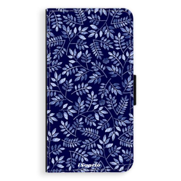 Flipové pouzdro iSaprio - Blue Leaves 05 - Samsung Galaxy J7 2016