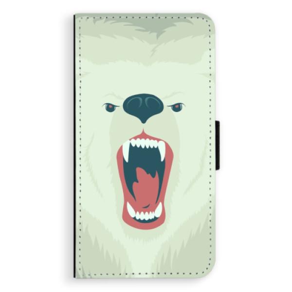 Flipové pouzdro iSaprio - Angry Bear - Samsung Galaxy J7 2016