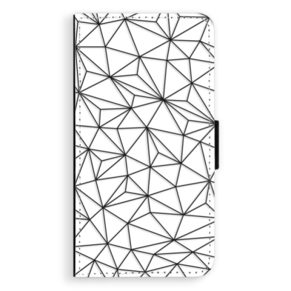 Flipové pouzdro iSaprio - Abstract Triangles 03 - black - Samsung Galaxy J7 2017