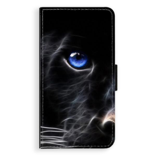 Flipové pouzdro iSaprio - Black Puma - Samsung Galaxy J7 2017