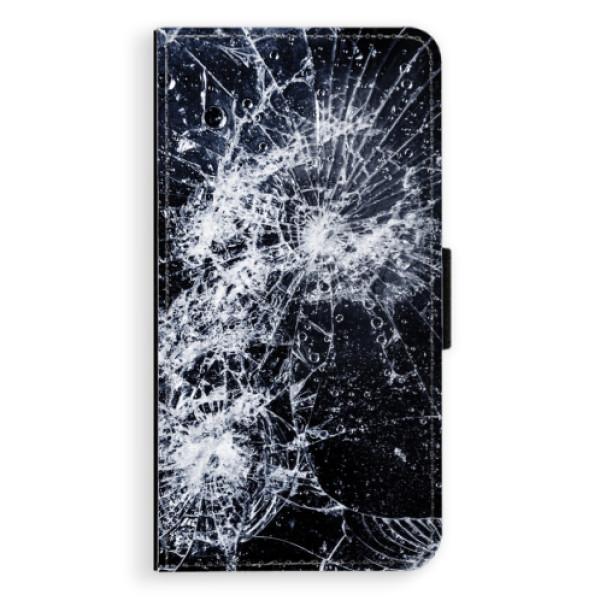 Flipové pouzdro iSaprio - Cracked - Sony Xperia XZ