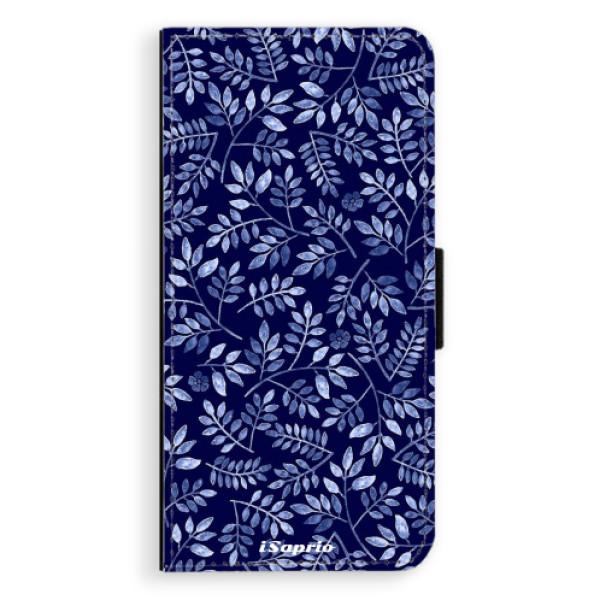 Flipové pouzdro iSaprio - Blue Leaves 05 - Huawei Ascend P8
