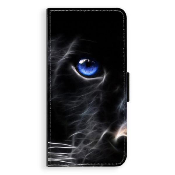 Flipové pouzdro iSaprio - Black Puma - Huawei Ascend P8