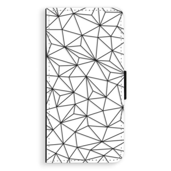 Flipové pouzdro iSaprio - Abstract Triangles 03 - black - Huawei P9