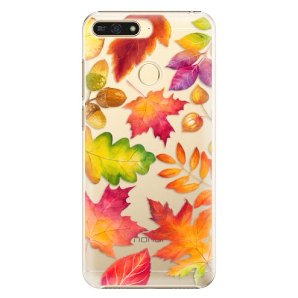 Plastové pouzdro iSaprio - Autumn Leaves 01 - Huawei Honor 7A