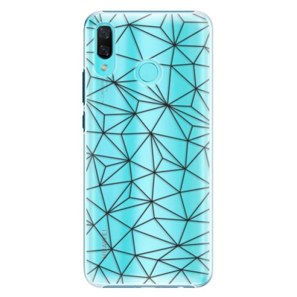 Plastové pouzdro iSaprio - Abstract Triangles 03 - black - Huawei Nova 3