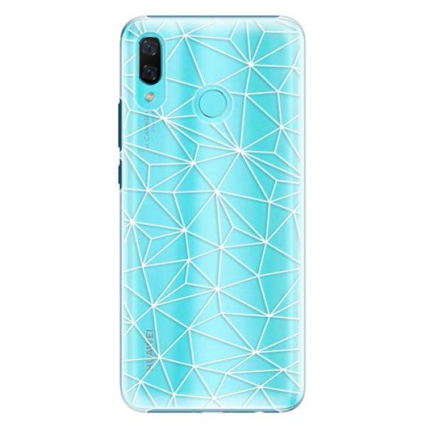 Plastové pouzdro iSaprio - Abstract Triangles 03 - white - Huawei Nova 3