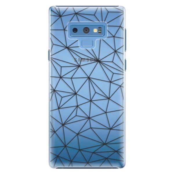 Plastové pouzdro iSaprio - Abstract Triangles 03 - black - Samsung Galaxy Note 9